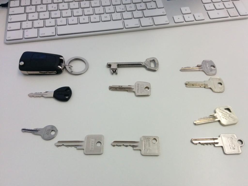 Überblick beschaffen: Alle Schlüssel auf einen Blick