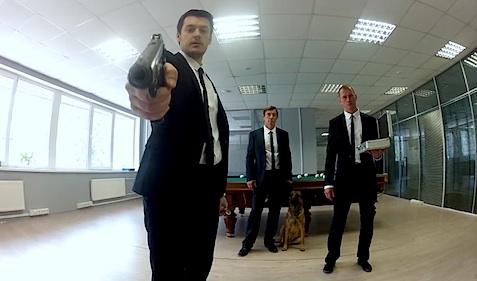 Screenshot aus dem Musikvideo Bad Motherfucker von Biting Elbows