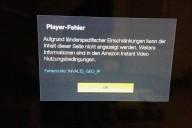 Fire TV geo ip Fehlercode