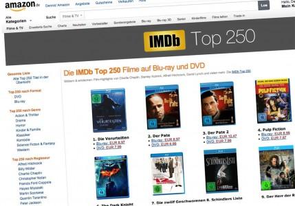 Die 250 besten Filme jetzt auf Amazon